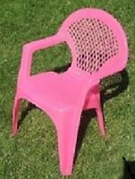Child's Pink Chair -Like New perfect for a reading chair in room