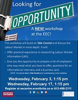 Looking for Opportunities - New Workshop at EEC February 3