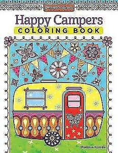 Happy Campers Coloring Book von Thaneeya McArdle (2015, Taschenbuch)