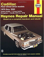 Cadillac rear wheel drive models haynes manual 1970 thru 1993