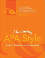 Mastering APA Style Workbook, 6th edition.