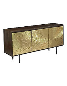 Mango wood/ Brass/Iron Sideboard/buffet/ media cabinet