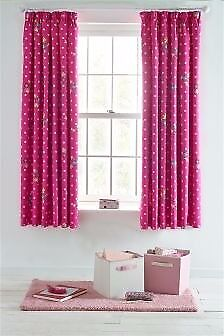brand new girls pink next curtains with blackout lining antrim