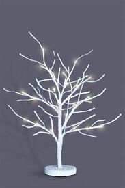 White birch Tree with lights 7ft