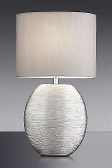 Next silver table lamps x 2 grey shades touch operation in next silver table lamps x 2 grey shades touch operation aloadofball Images