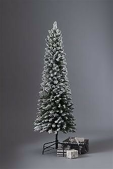 Next 6 foot snowy slimline christmas tree for sale. Only used last year. Ideal for limited space