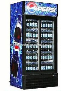 Double door commercial drink / pop cooler for sale   $450