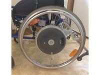 WHEELCHAIR: Invacare Action 5N Electric Powered Wheelchair with Alba E-Motion Wheels