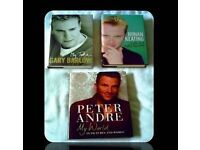 MALE SINGER BIOGRAPHIES - (3) - HARDCOVER - FOR SALE