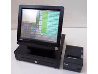 2x Epos Casio QT-6600 Systems with printers 4 Fast Food Restaurant Pub Hospitality 15' TouchScreen