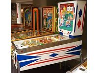 PINBALL/ JUKEBOX/ BANDITS/ ARCADE MACHINES/ VINTAGE/ ANTIQUES/ CLASSIC CARS/ PROJECTS WANTED!