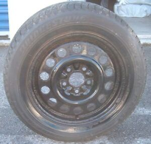 195/60/15 4 Bridgestone Blizzacks Revo Tires and Rims