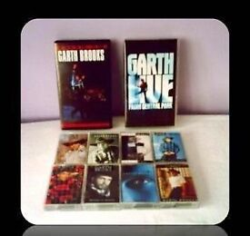 GARTH BROOKS BUNDLE - VHS/CASSETTE TAPES - (10 ITEMS) - FOR SALE.