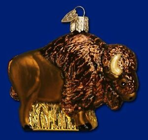 Old World Christmas Buffalo Ornament, New In Box
