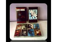 GARTH BROOKS MUSIC BUNDLE - VHS/CASSETTE TAPES - (10 ITEMS) - FOR SALE.