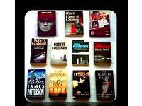 CRIME BOOKS - (11) - PAPERBACK/HARDCOVER - FOR SALE