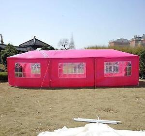 10x30' PINK Wedding tent / Party Tent w/ 8 Walls / Outdoor Tent