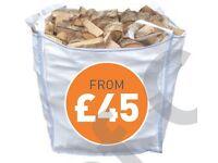 kiln dried firewood bulk logs fire wood hardwood seasoned ton bag kindling nets guaranteed below 20%