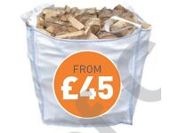 kiln dried and seasoned hardwood bulk bags bulk loads nets kindling firewood stove wood fire open