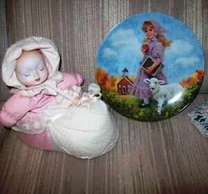 Porcelain Musical Lullaby Doll