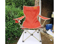 Rust coloured foldaway Chair and Bag