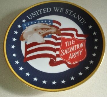 "SALVATION ARMY DECORATIVE PLATE ""UNITED WE STAND"""