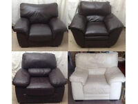 very good condition sofas leather 4 single arm chairs