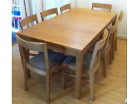 IKEA Bjursta, oak veneer, Big extendable dining table - CHAIRS NOT INCLUDED