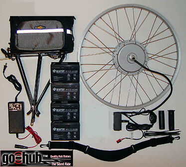 Go hub Crystalyte 408 Electric Bike Kit   48v/12ah 700c Front Hub. Hard To Find!