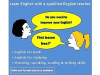 English Lessons with CertTESOL Qualified, Native English speaking tutors