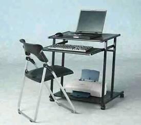Computer desk black metal