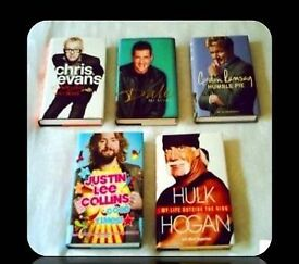 MALE CELEBRITY BIOGRAPHIES - (5) - HARDCOVER - FOR SALE