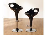 Pair of Black Bar Stools - Great Bargain - As one lightly used other still New & Boxed £25 for both