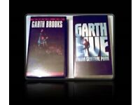 GARTH BROOKS VHS TAPES - (2) - FOR SALE.