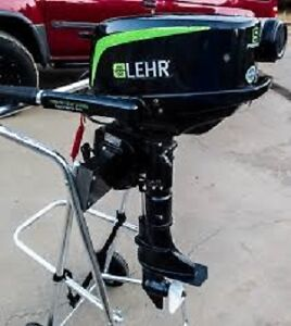 LEHR 5 hp Propane Outboard with optional 2.6 gallon propane tank