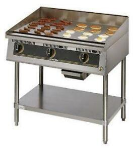 commercial used gas griddle