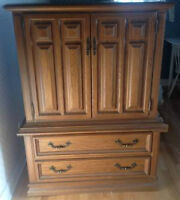 VINTAGE OAK SIX DRAWER HIGH BOY