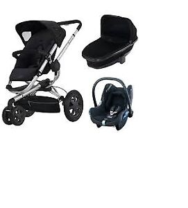 Quinny Buzz 3 Stroller +Maxi Cosi car seat with base+adapters