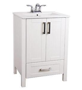 "23.6"" X 18.7"" X 33.5"" VANITY WHITE WITH SINK"