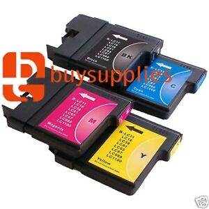 [ ANY 4 ] COMPATIBLE PRINTER INK CARTRIDGES FOR BROTHER  LC-1100  LC1100  LC-980