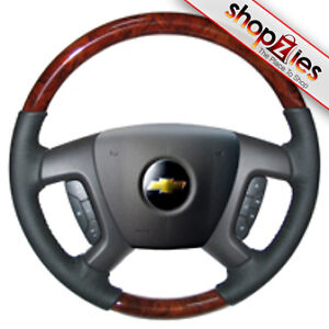 chevy tahoe avalanche 2007 2011 wood steering wheel ebay. Black Bedroom Furniture Sets. Home Design Ideas