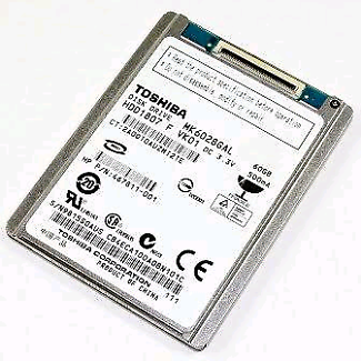 """1.8"""" 250gb hard drive with L connector"""