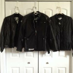 Motorcycle  jacket and 2 liners, ladies Small