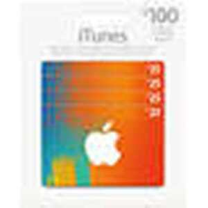 Pack of 4 $25 iTunes Cards