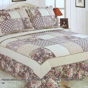 Brand new Handcrafted classic patchwork cotton quilts queen king