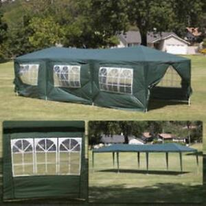 Green 10'x30' Party tent with 8 walls/ Master Shade Camping Tent Cambridge Kitchener Area image 3