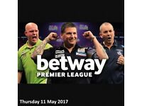 6 tickets to the sold out Betway Premier League Darts on Thursday the 11th of May at AECC