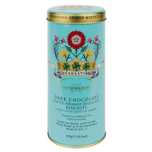 FORTNUM AND MASON 1953 - 2013 THE QUEEN'S 60TH CORONATION MUSICAL BISCUIT TIN