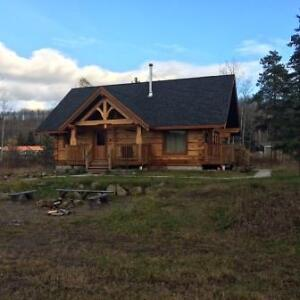 Executive Style Custom Built Log Home
