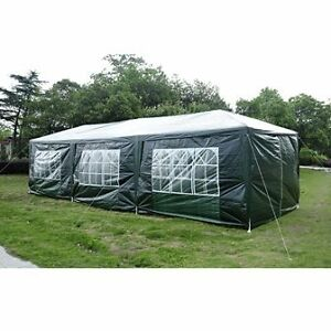 Green 10'x30' Party tent with 8 walls/ Master Shade Camping Tent Cambridge Kitchener Area image 2